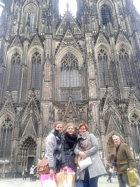 Even een foto bij de Kölner Dom